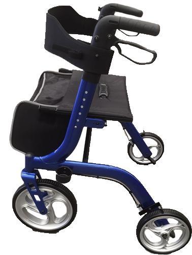 days deluxe rollator, days deluxe seat walker, rollator, seat walker, days, light weight walker